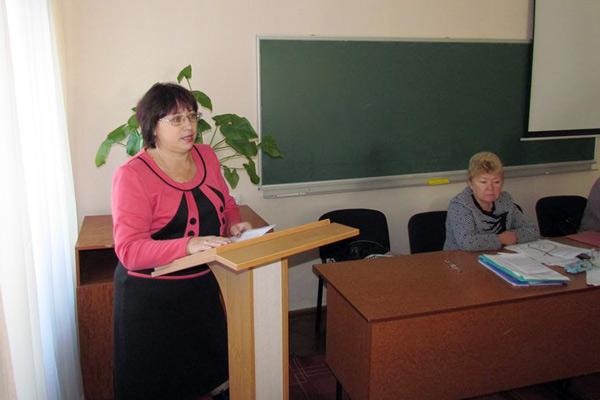 Інга Чеботаєва - голова Ніжинської районної організації Профспілки працівників освіти і науки України